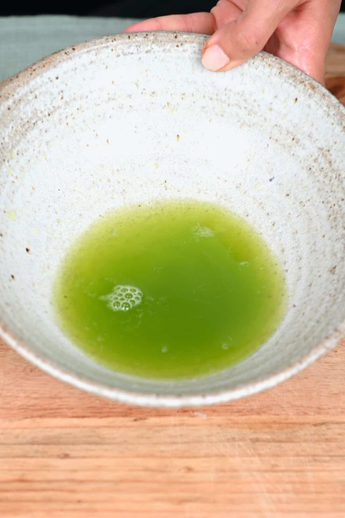 Liquid from zucchini
