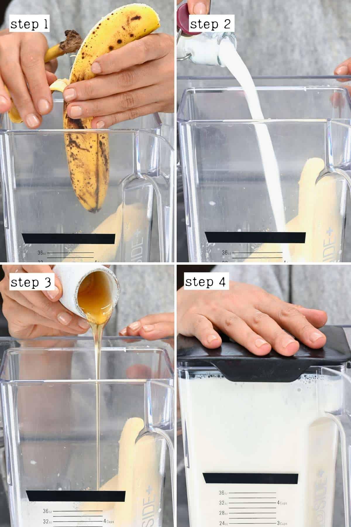 Steps for making banana milkshake