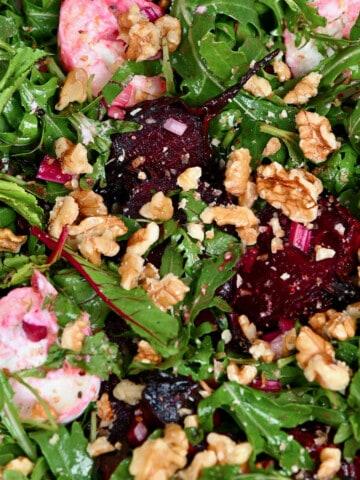 roasted beet arugula and walnut salad