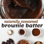 Ingredients to make brownie batter dip