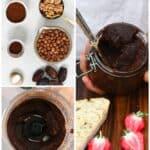 Steps for making brownie batter dip