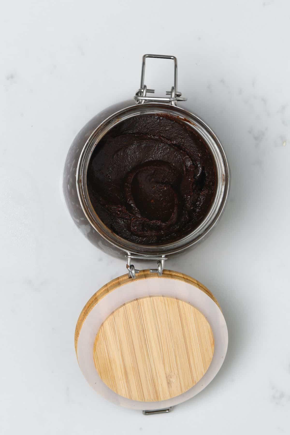 Brownie batter dip in a jar