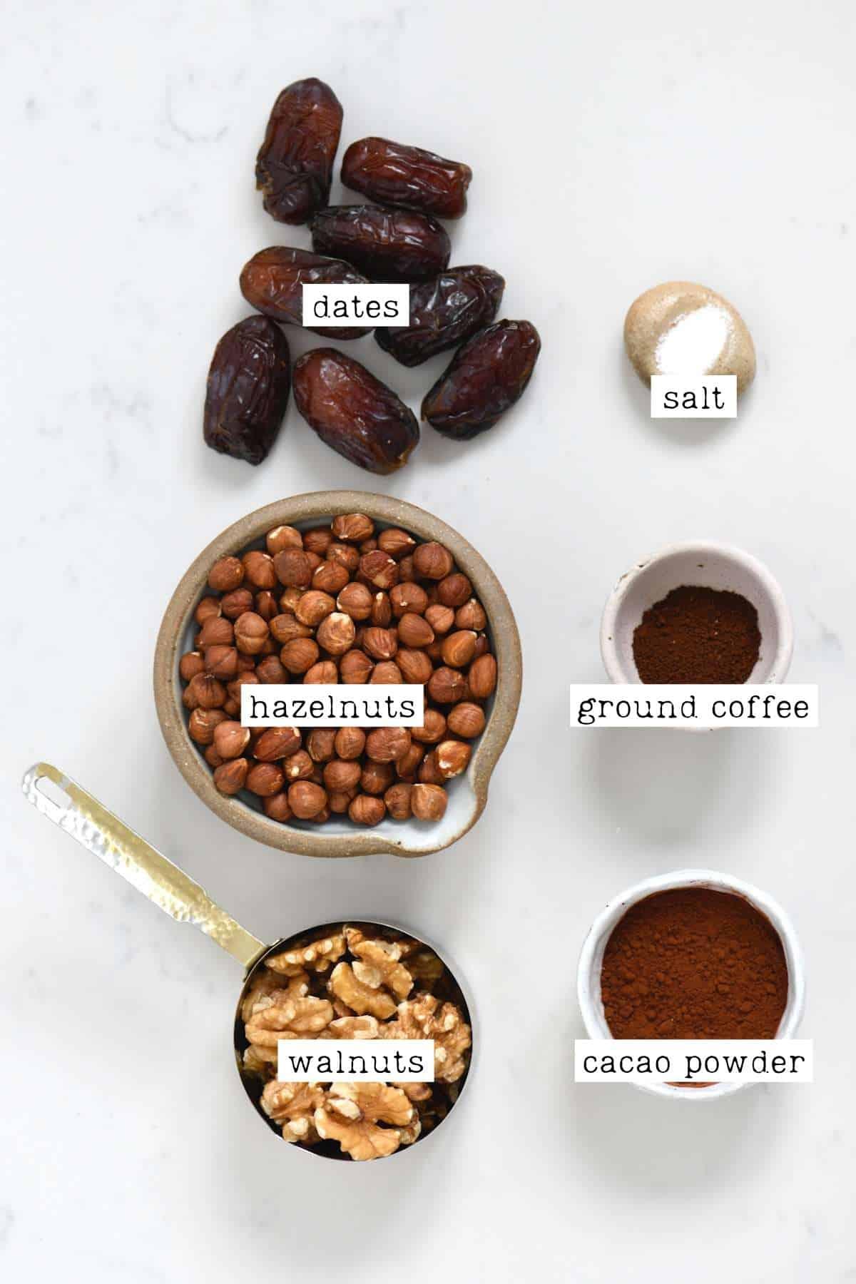 Ingredients for brownie batter dip