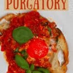 Eggs in purgatory over toast