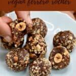 Ferrero Rocher truffles on a plate