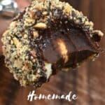 A half eaten Ferrero Rocher truffle