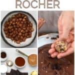 Steps for making Ferrero Rocher truffles