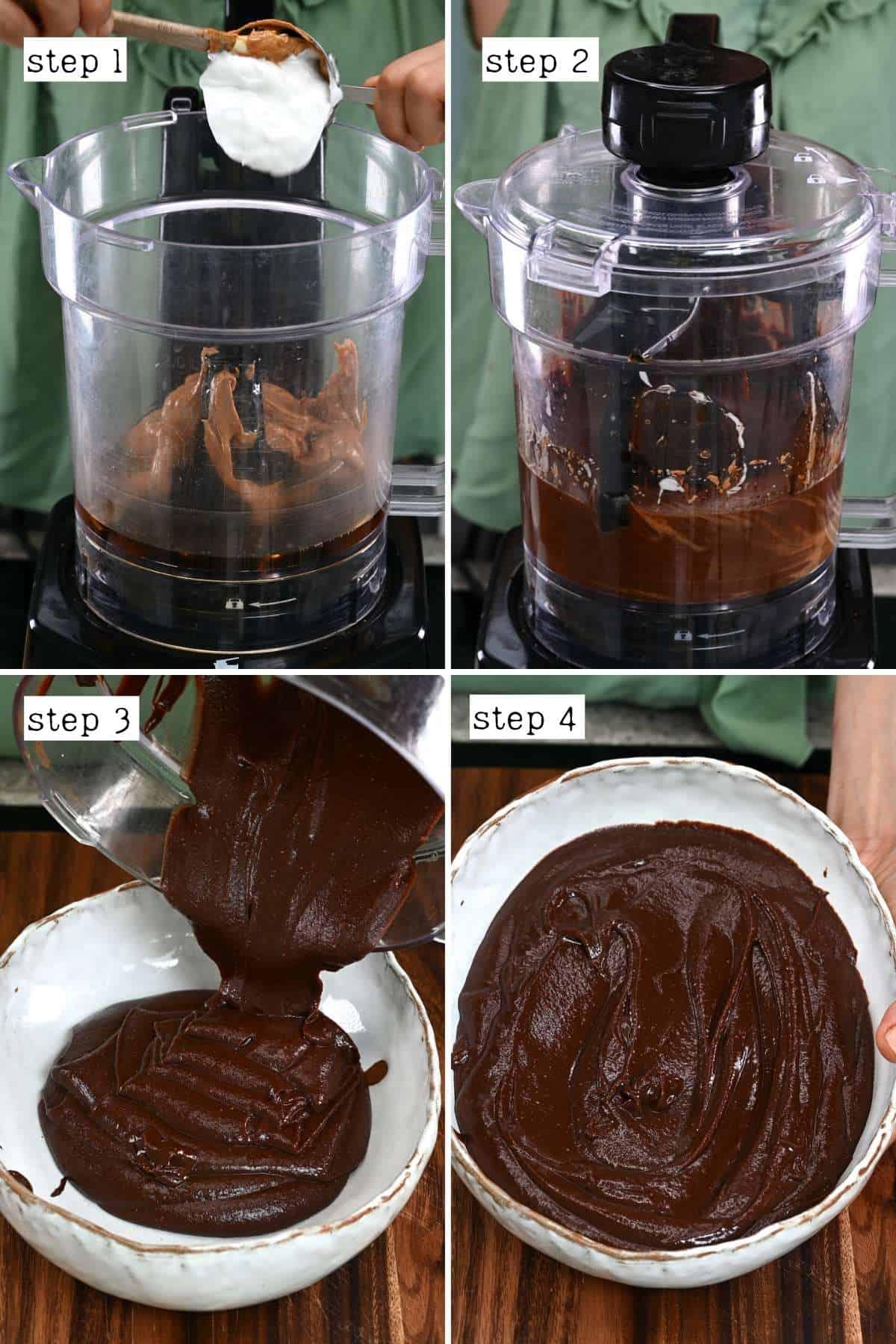 Steps for making Ferrero Rocher base