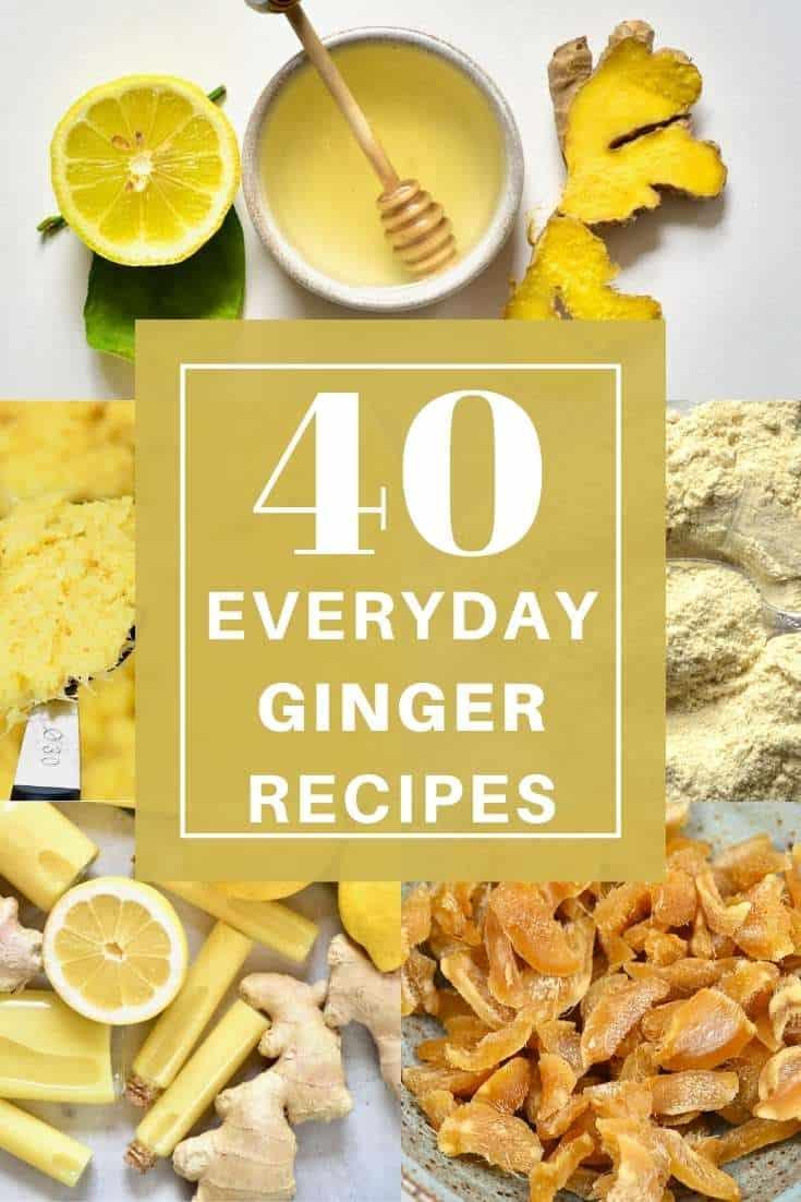 Ginger tea ginger juice and ginger paste