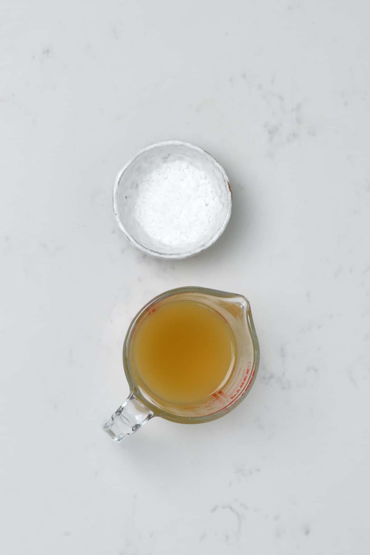 Salt and soybean cooking liquid