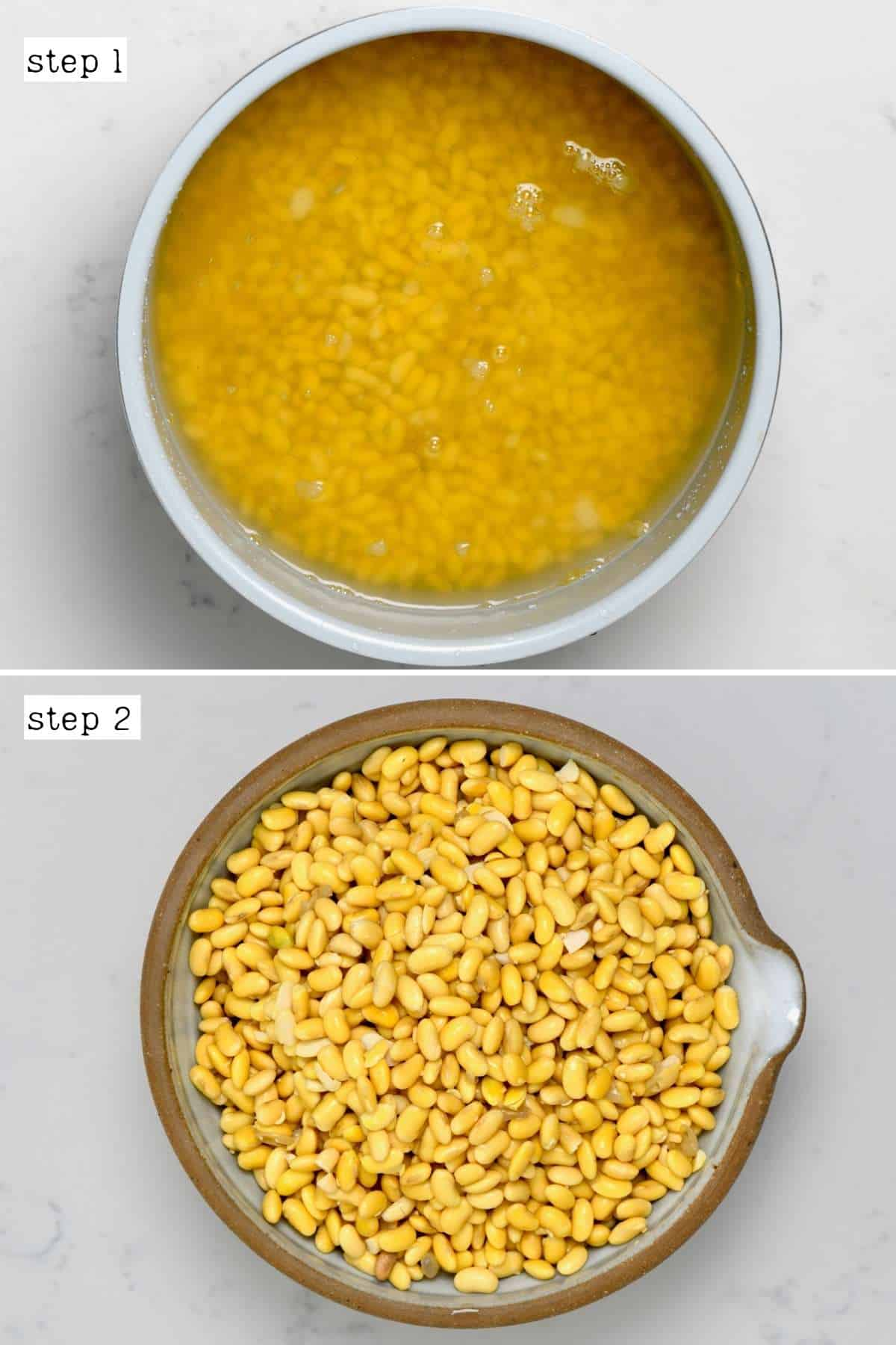 Steps for soaking soybeans