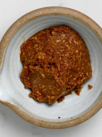 Homemade Miso Paste in a bowl