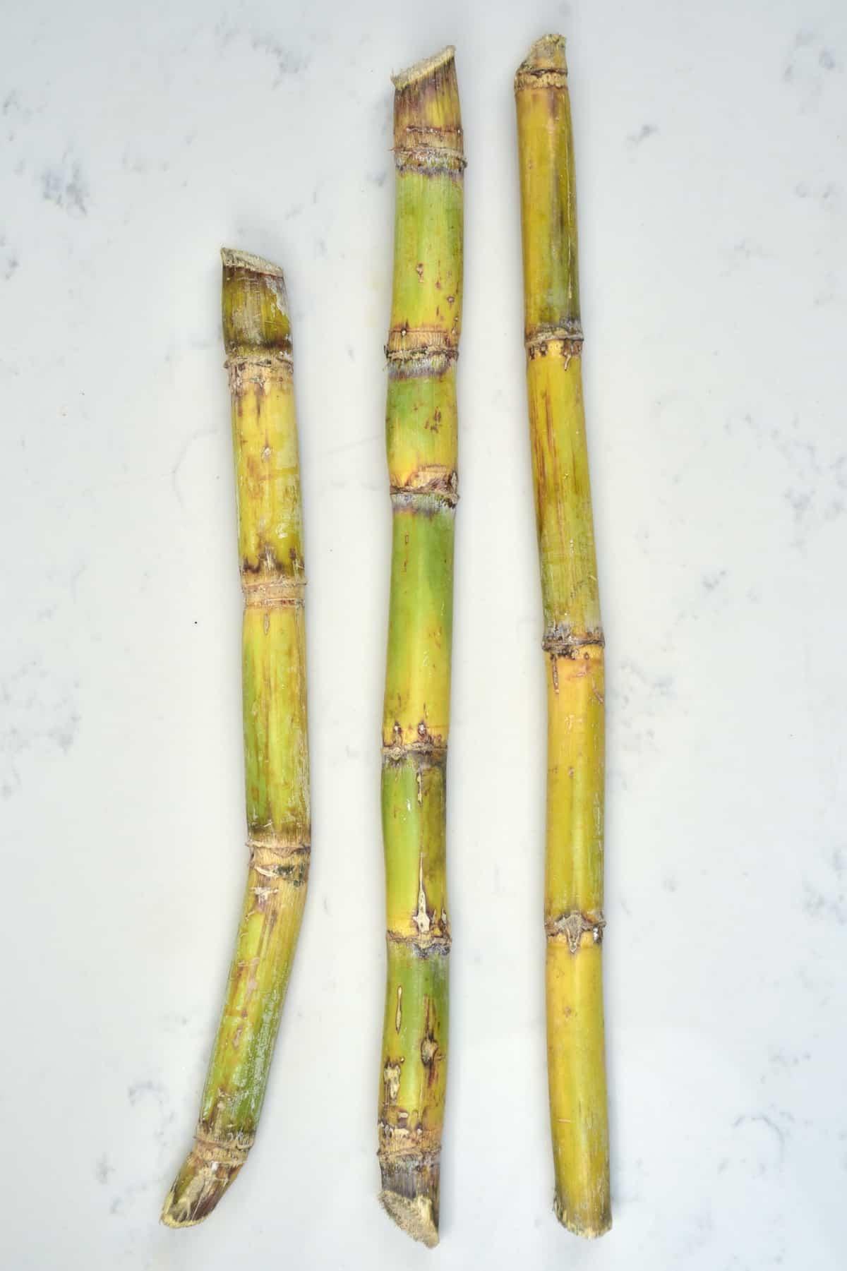 Three sugar canes