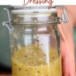 a small jar with honey mustard dressing