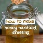 making honey mustard dressing