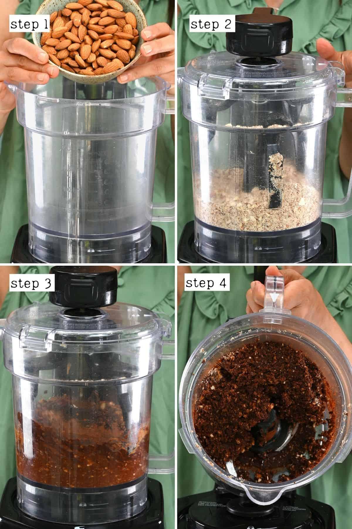 Steps for making Mars cake base layer