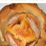 Freshly baked no-knead bread