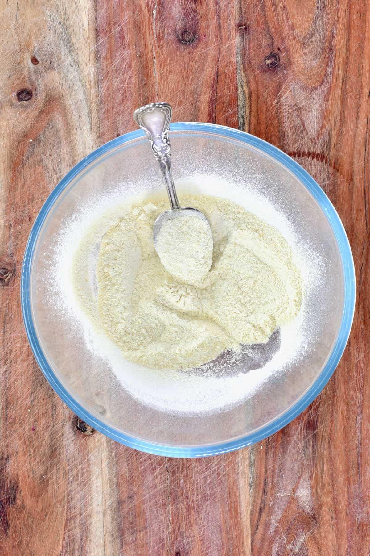 Onion powder in a bowl