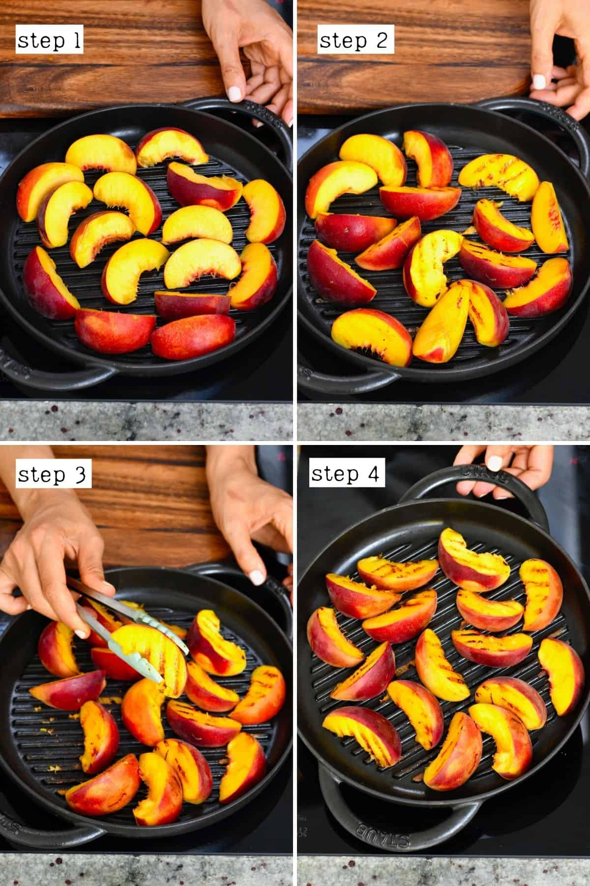Steps for grilling peaches