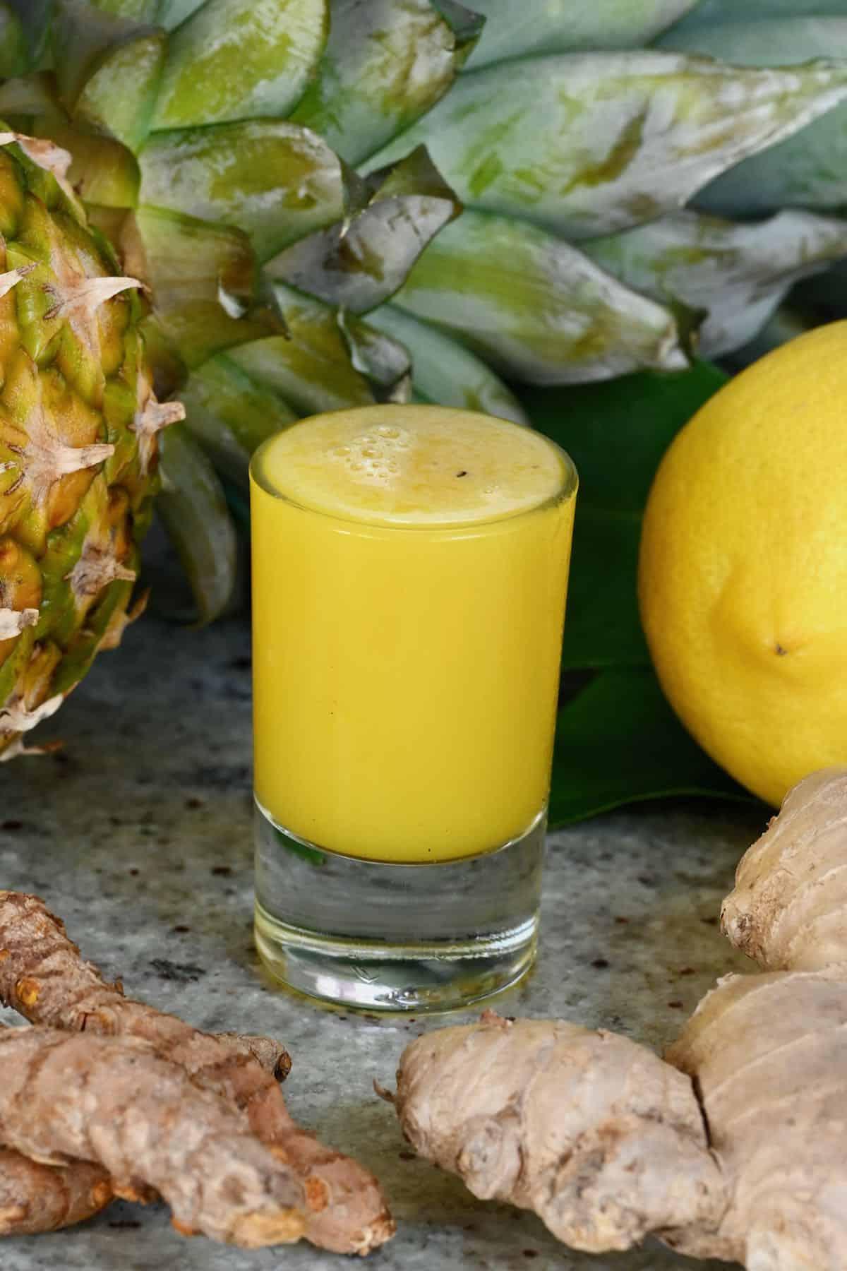 Pineapple ginger energy shot