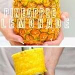 Freshly made pineapple lemonade