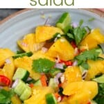 Pineapple cucumber salad in a bowl