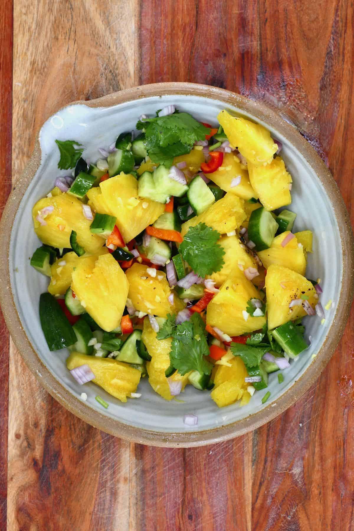 Mixed pineapple salad