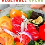 Roasted Vegetable Salad in a bowl