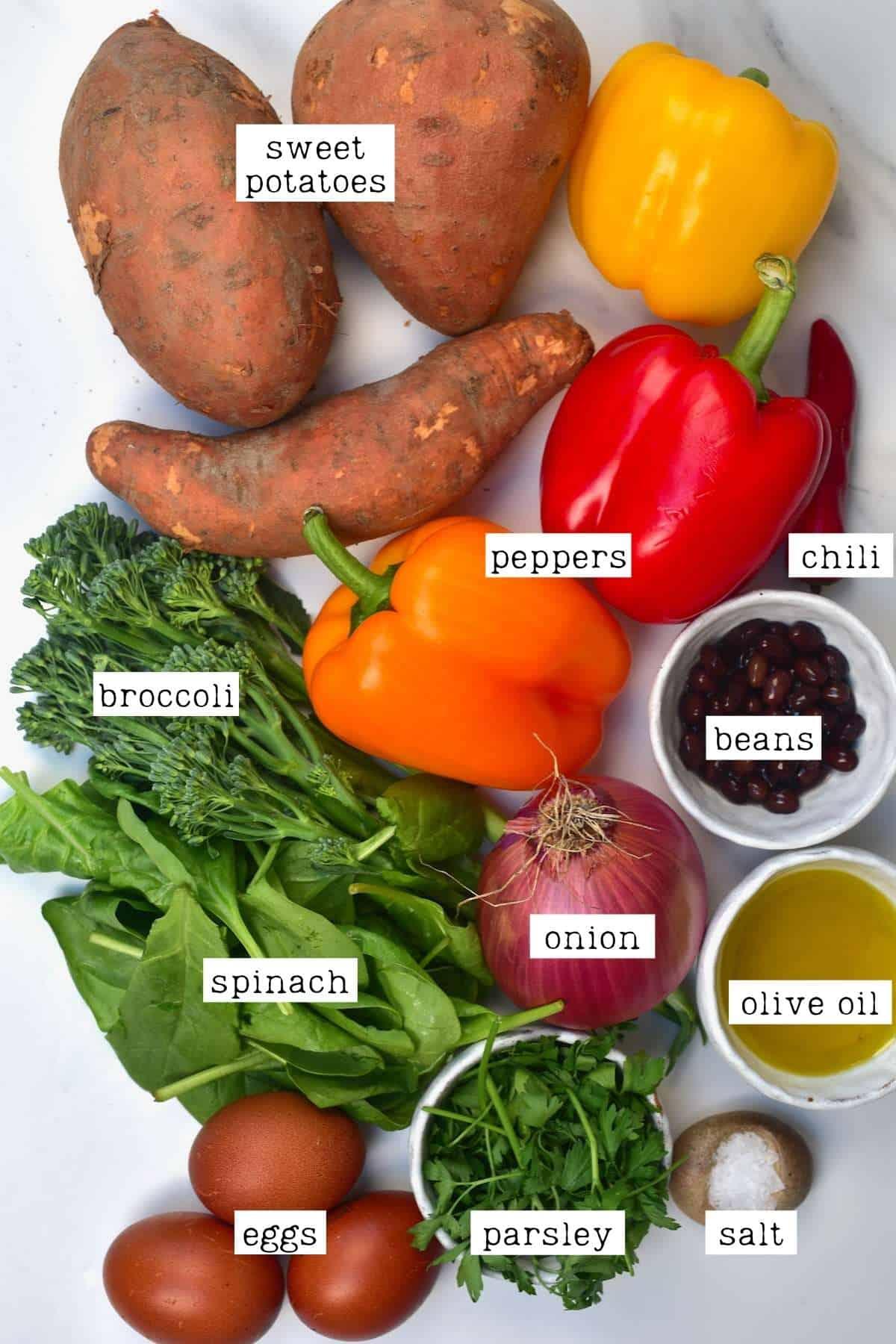 Sweet potato hash ingredients