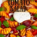 Tomato peach salad with cheese