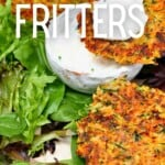 Vegan fritters and yogurt dipping