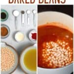 Ingredients needed for making baked beans