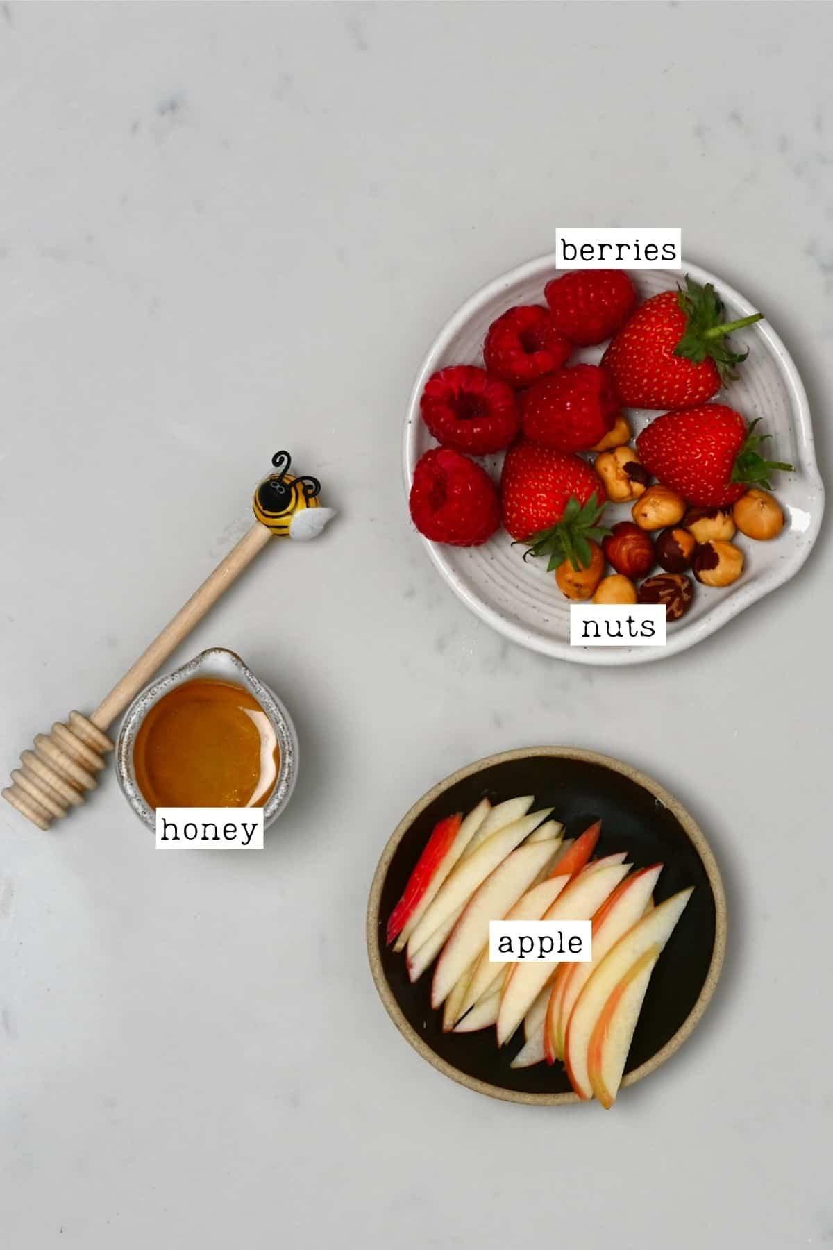 Toppings for Bircher muesli