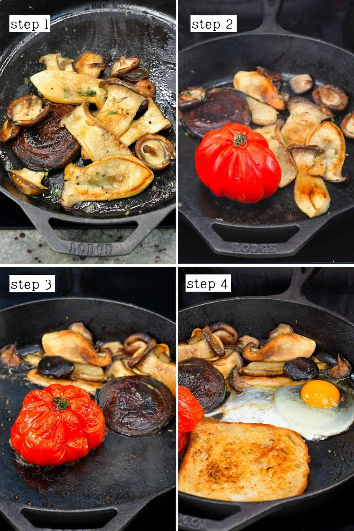 Steps for cooking English breakfast
