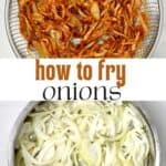 fresh and fried onions