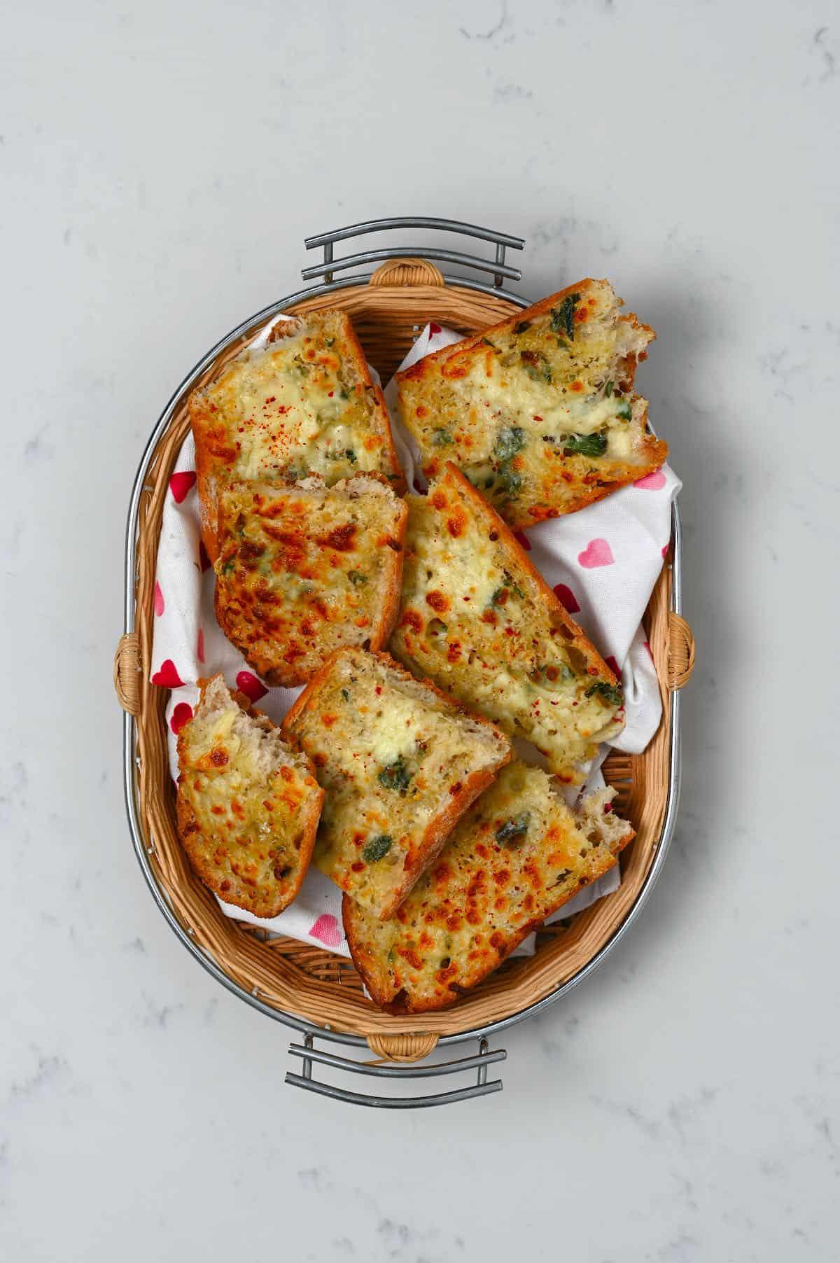 Homemade cheese garlic bread