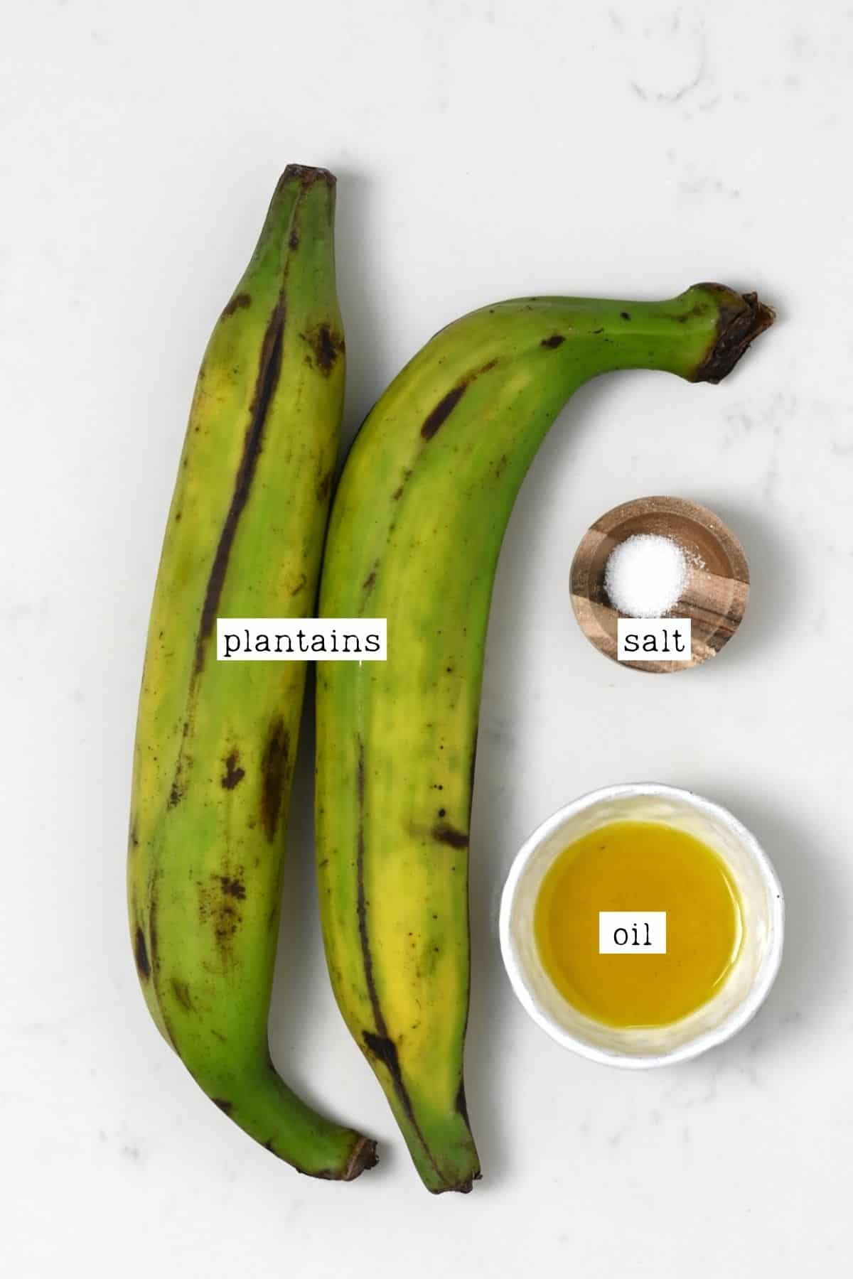 Ingredients for plantain chips