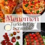 Steps to make Menemen Turkish scrambled eggs