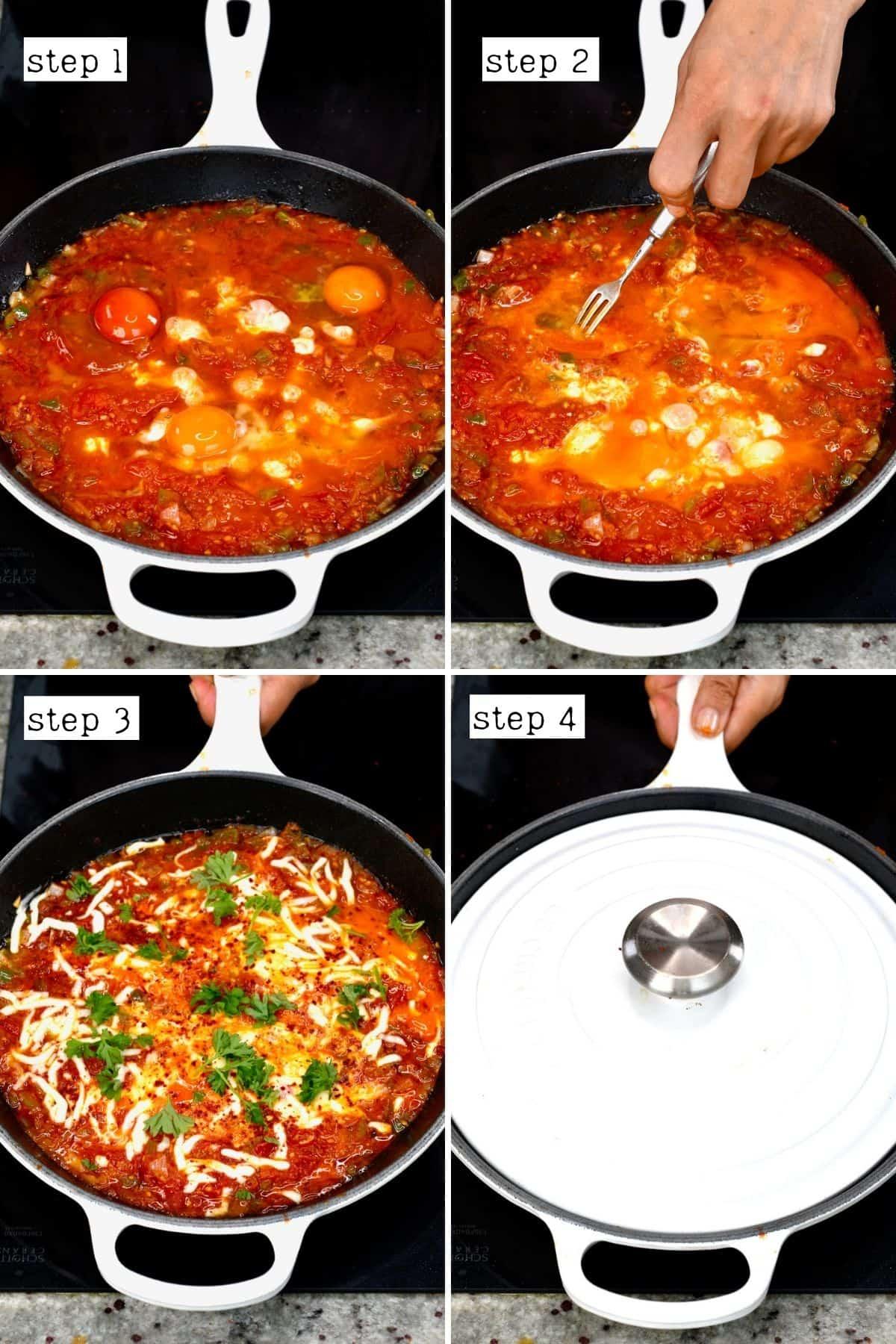 Steps for cooking menemen