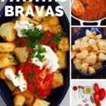 Steps to make patatas bravas