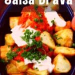 A serving of patatas bravas