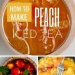 Steps to make peach iced tea