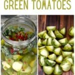 Steps to make pickled green tomatoes