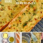 Garlic roasted bread and ingredients to make it