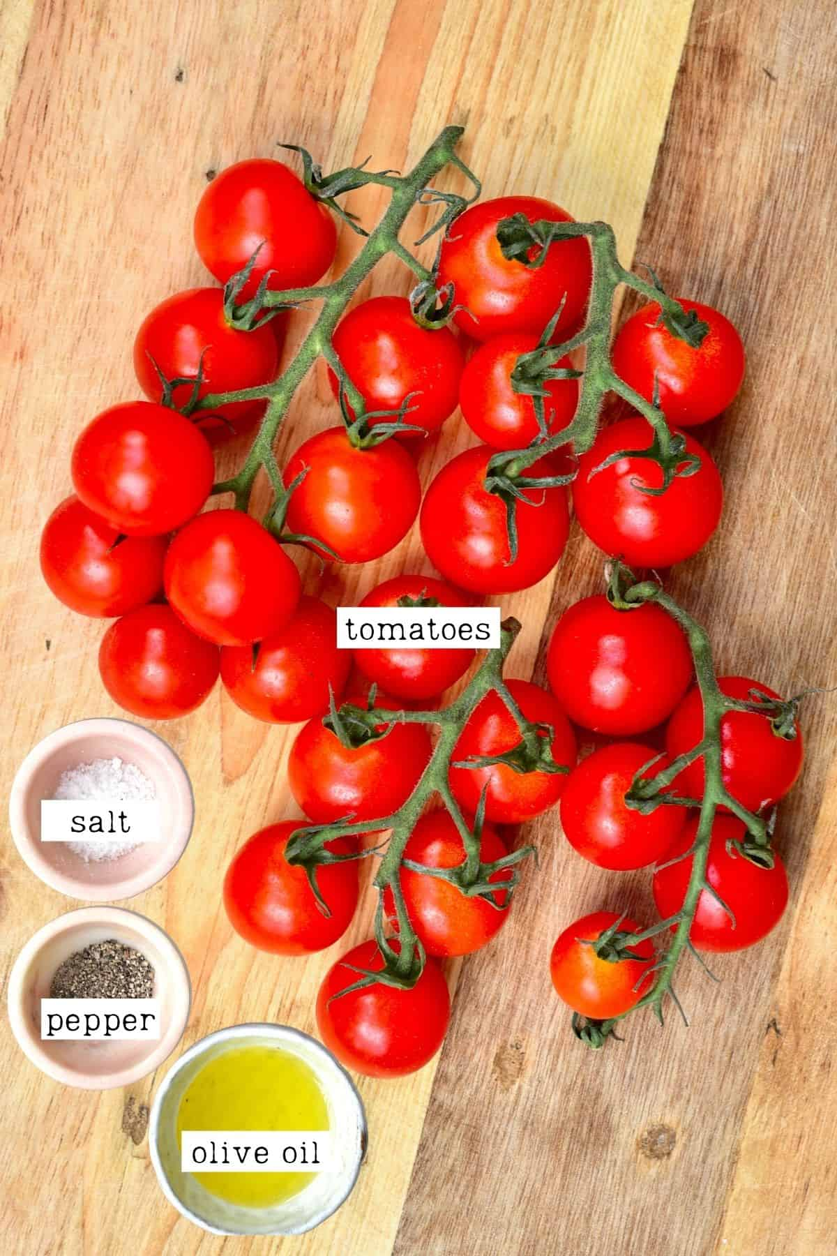 Ingredients for roasted tomatoes