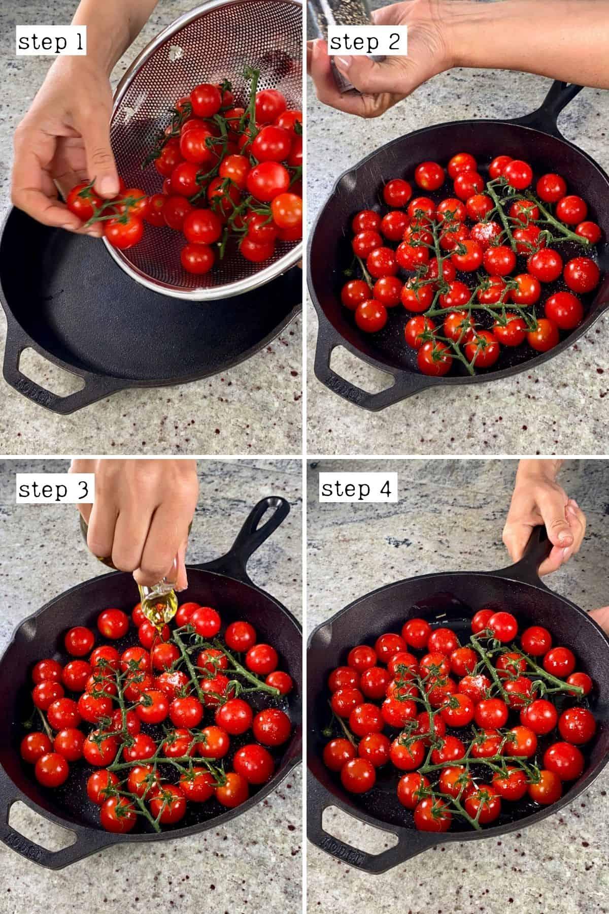 Steps for preparing tomatoes