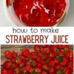 Strawberries and strawberry juice