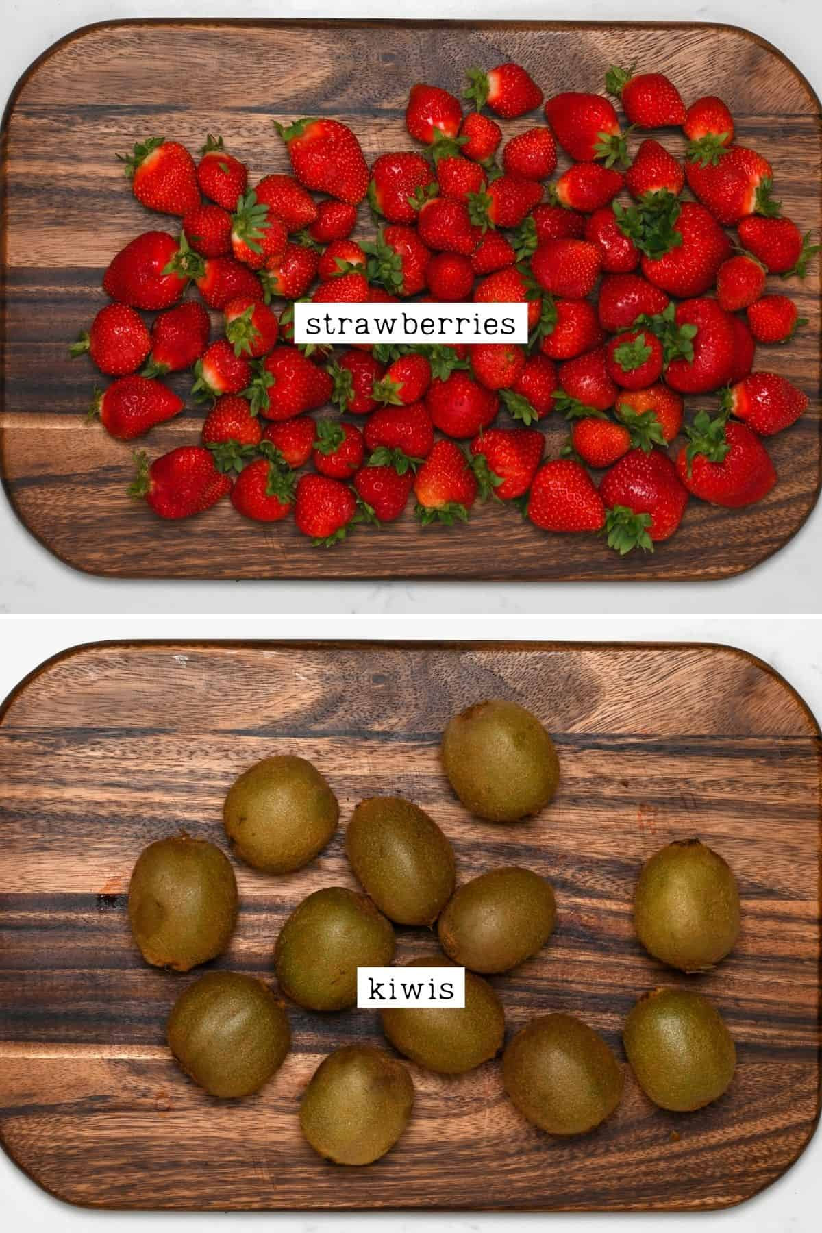 Strawberries and kiwis