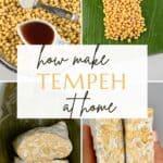 Steps to make tempeh