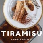 A serving of homemade tiramisu